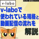 【リモート編集】v-laboで使われている規格と動画の流れについて