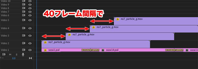 CG動画を40フレーム間隔で並べる