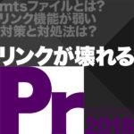 【危険】Premiere Pro CCは「同一のファイル名」があると誤リンクしてしまう!「.mts」を扱う時の注意点と対処法